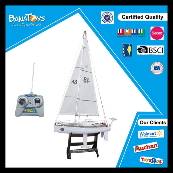Electric toy rc sailing boat china