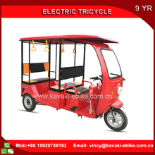 Kavaki Factory 1000W Three Wheel Electric Passenger Tricycle with roof 3 Wheel Auto Rickshaw For Sales