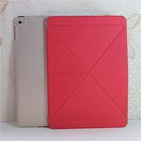 Simple colorful laether flip cover for ipad 5 leather case