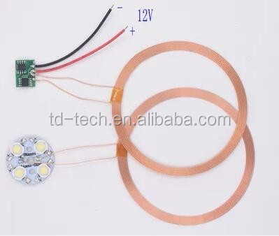 Transmitting input voltage 12V 81 mm coils inductive charging circuit wireless power module