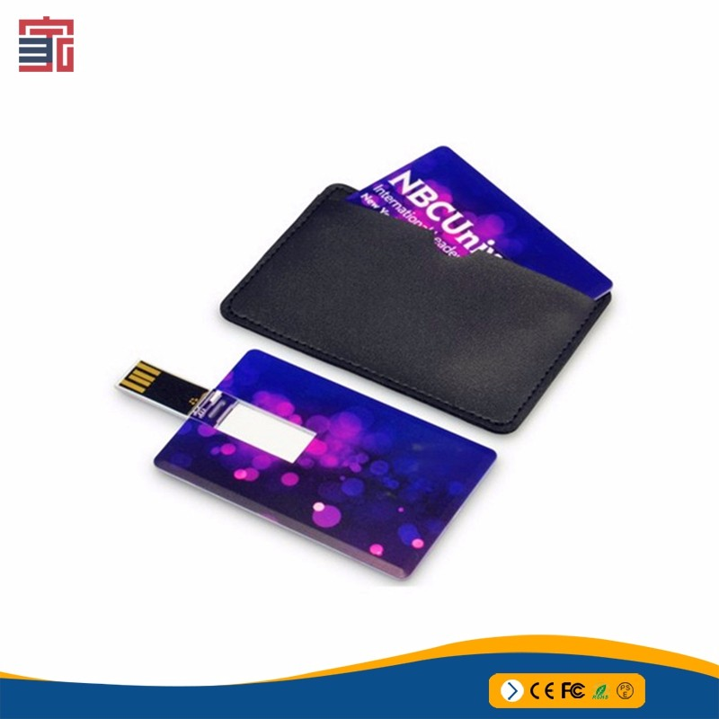 2 or 4 GB usb flash drives with cmyk full color printed logo credit card Style