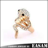 Export fake 18k gold snake ring for women party occasion