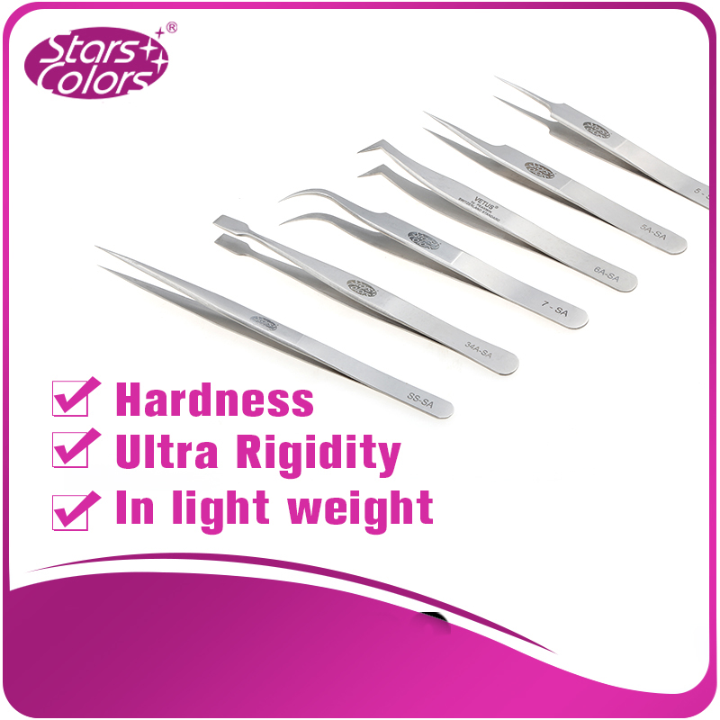 Starcolor anti-scratch good tweezers for lashes extension