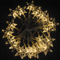 Battery Operated Warm White 20 Star 2M LED Xmas Party Fairy String Lights