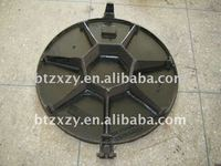 manhole cover ,ductile iron manhole cove ,grating ,grids ,cover with frame ,SGS,EN 124