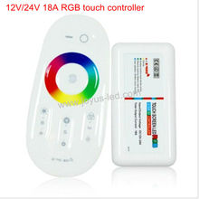 12V/24V 18A 216W/432W led rgb controller with touch remote control
