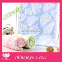 Lovely Strawberry Smooth Towels Cotton/Bamboo Fiber Face Towel China Manufacturer