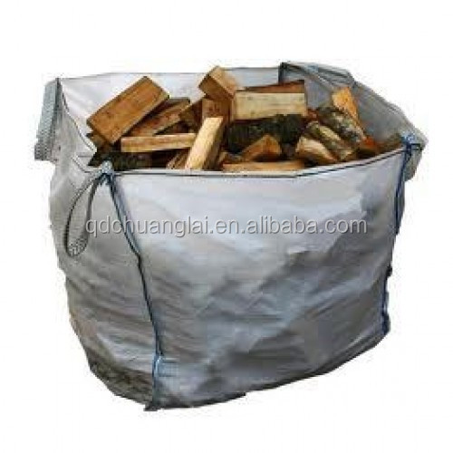 OEM Fibc bags stacking containers top spout bulk bag firewood Sacks