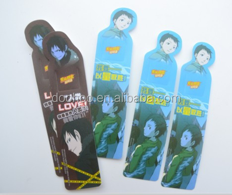 2015 fashion young handsome boy plastic bookmarks