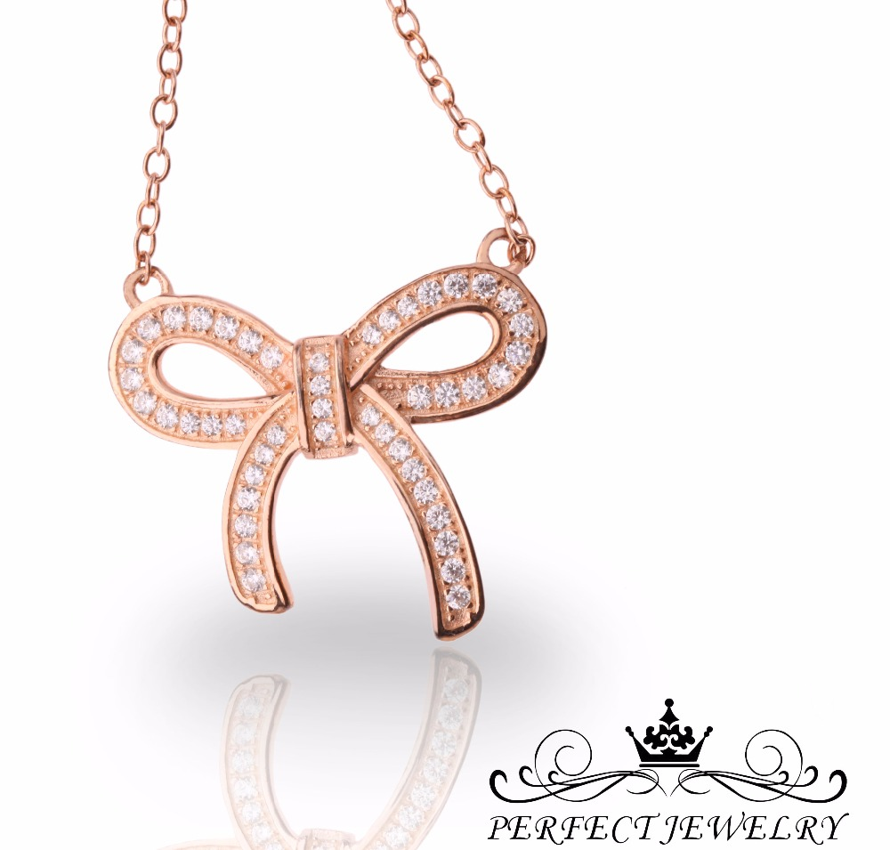 Perfect Jewelry Ribbon Design Pendant With Cubic Zircon For Women