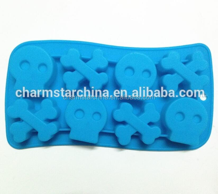 Silicone Skeleton Skull Chocolate Mould Ice tray Little cake mould