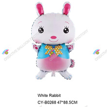 2015 new design animal shaped helium balloons various kinds of balloons rabbit shaoed foil balloons