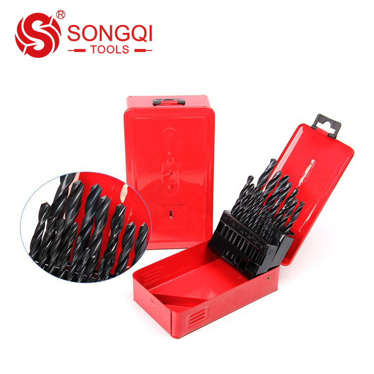 <strong>19</strong> PCS / 25 PCS HSS twist drill bit set 1-10mm / 1-13mm for wood