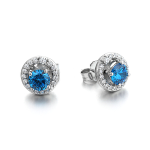 925 Sterling Silver 3 Gram Beautiful Designed CZ Stud Earrings