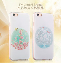 Chinese style literature and art digital color printing phone cases for iphone6 and iphone6 plus