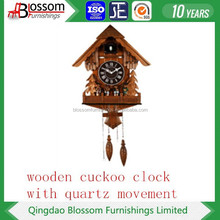 wooden modern decorative cuckoo clock with pendulums