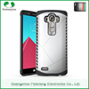 Custom 6 colors anti-throw anti-friction 2 in 1 dual layer TPU PC holster mobile phone combo case for LG g4