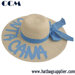 Ladies Wide Brim Bow Straw Women Summer Sun Hats