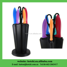 global metals knife set with PP holder