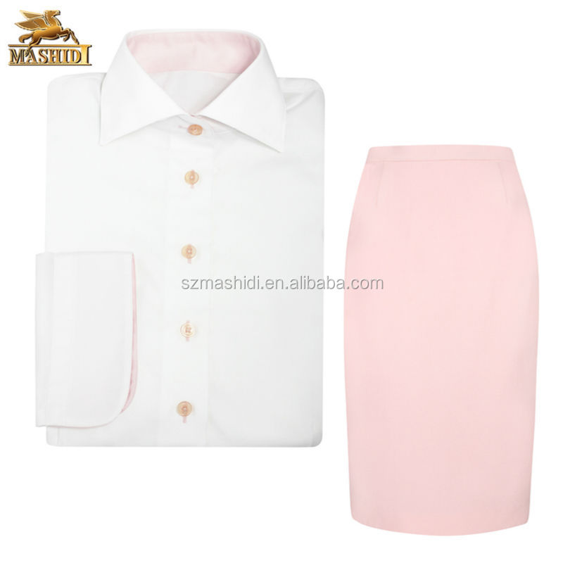 fashion and trendy custom design women office shirt uniform hotel front office formal wear