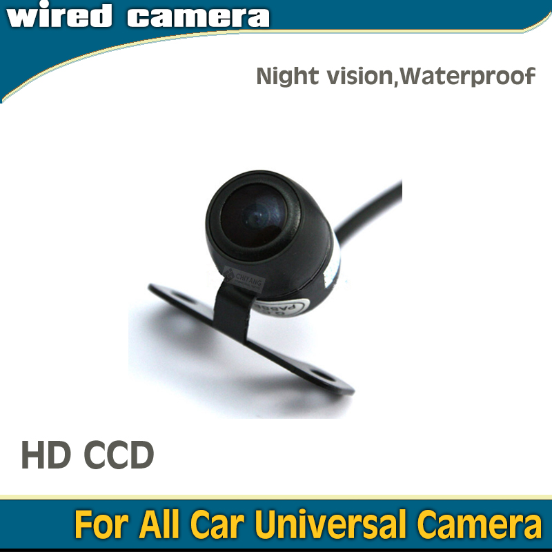 Car parking Wire wireless Rear view / front view butterfly shape camera 1090K CCD1/3'' HD display for all universal car