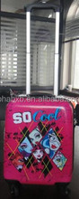 2015 new products hot selling kids pc luggage trolley printed