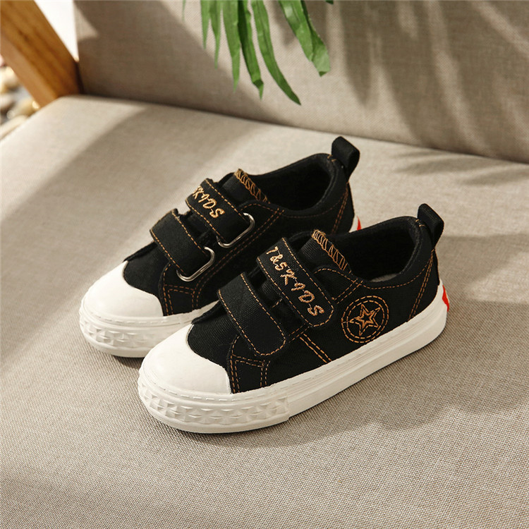 China Customized Buckle Strap Canvas Shoes Boys