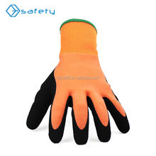 13G Warm Keeping Cotton Polyester Sandy Latex Coated Gloves
