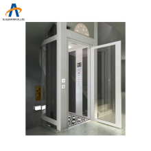 glass cabinet small building indoor hot sales 400kg capacity lift