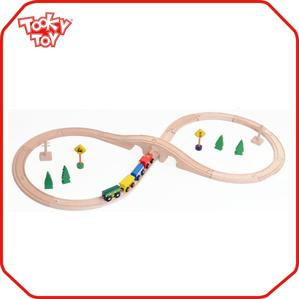 Streets And Tracks Train Set Wooden Train Track