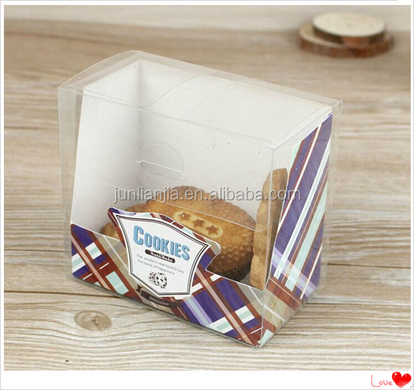 PP eco-friendly clear plastic boxes foe cookies/cake package
