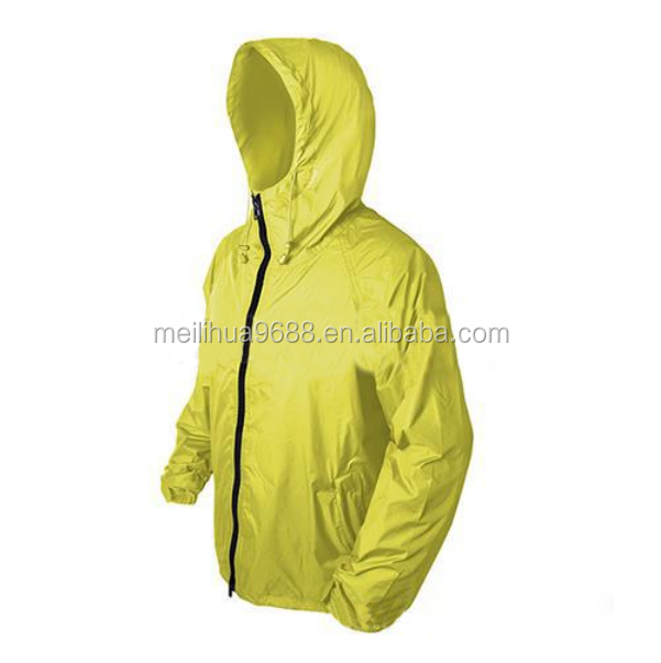 2015 Cheap Custom Yellow Nylon Polyester Bike Rain Men Waterproof 20000MM Jacket