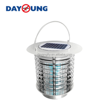 Solar-Powered UV Bug Zapper & LED Garden Lamp - Included DC Power Adapter Also Enables Direct Charging