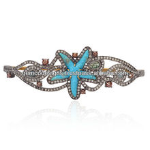 Turquoise Star Diamond Palm Bracelet Jewelry