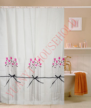 polyester advertising shower curtain