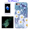 Water Decals Noctilucent Floral Pattern Hard Case for iPhone 7 Covers Case
