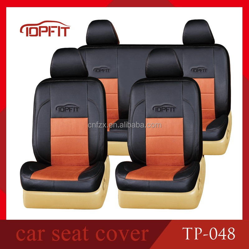 Top Fit New Design Foam Padded High Quality PVC Leather Car Seat Protector Covers