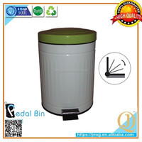 smart outdoor Usage and anti rust steel Material Non-sensor handmade step dustbin
