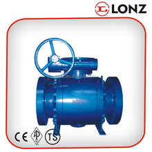 ANSI Cast Steel Flanged 3PC Trunnion Ball Valve