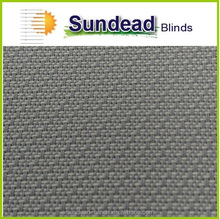 3% PVC coated Anti-Bacterial Fire-retardant roller blind solar screen curtain fabric for Home, Office, and Hotel (Slate)
