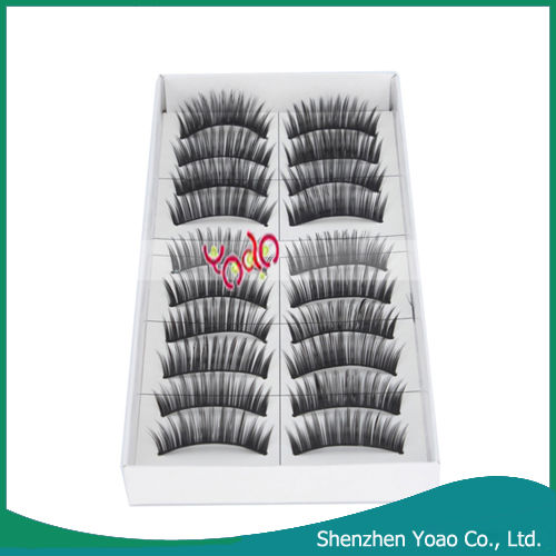 Wholesale 10x Long Volume <strong>Black</strong> False Eyelashes