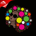Iron on Afro Lady Heat Transfer Designs for Afro Girl T Shirt Wholesale China