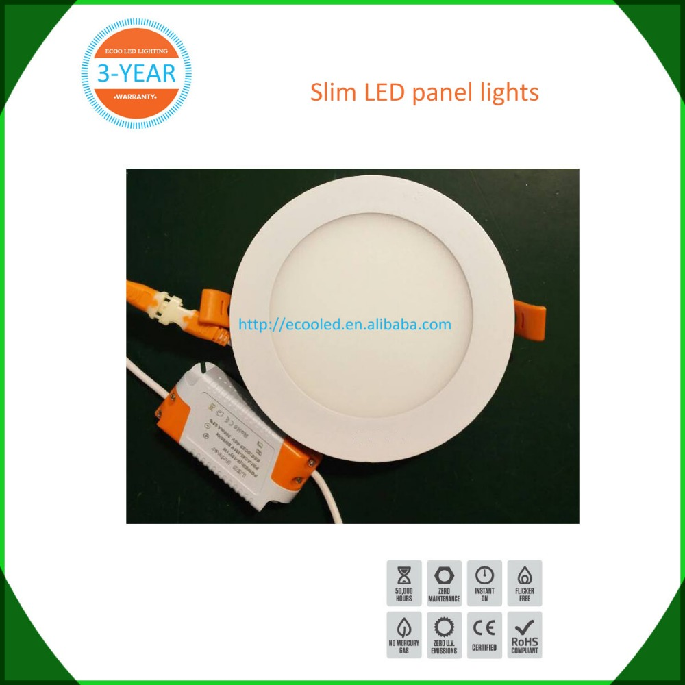 2016 smd recessed round led panel 12w 18w slim square led panel light