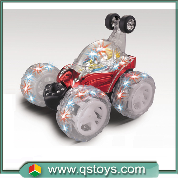Hot selling huanqi toys cool rc stunt music car model in Chenghai