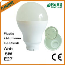 New Plastic Aluminum E27 7W A55 LED Heatsink Price