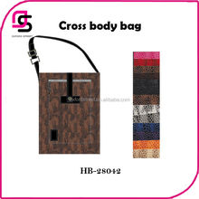 Newest designer snake print PU women cross body bag