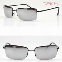 2013 Fashion sungalsses with metal half frame sun glasses and the lens plating mercury eyewear TCSV027-2