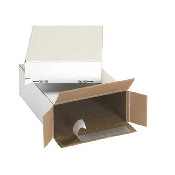 corrugated paper self-seal side loading boxes