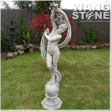 Garden Stone Beauty Nude Girl Statue
