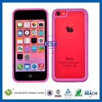 C&T 2014 hot sale 6 pcs colorful series for iphone 5 pc&tpu case